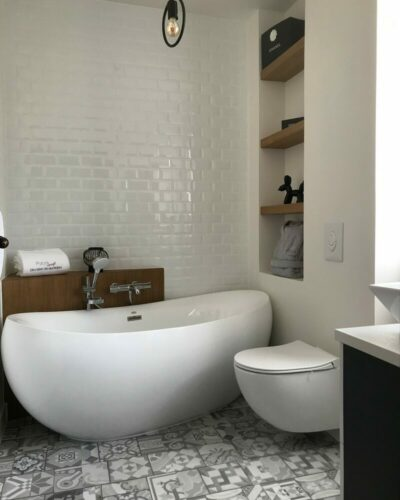 Carrelage metro Salle de bain fitz james 60